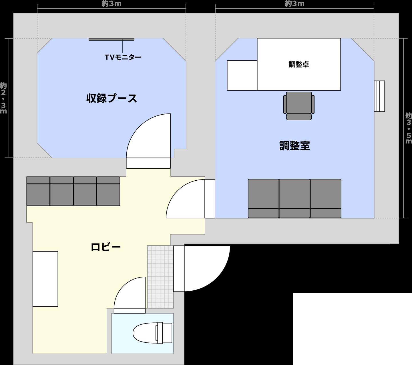 A studio 間取り図